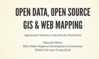Open Data, Open Source and GIS Web Mapping