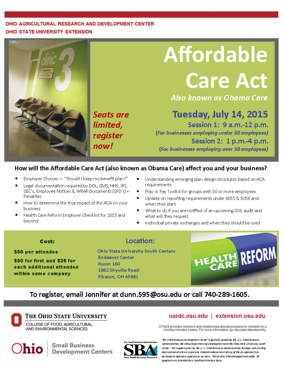 2015 7-14  Affordable Care Act -aka Obama Care