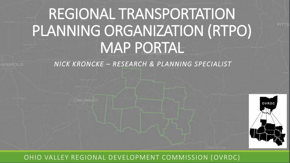RTPO Map Portal Presentation