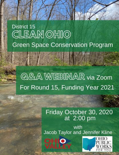 Clean Ohio Program Q&A Webinar – coming up!