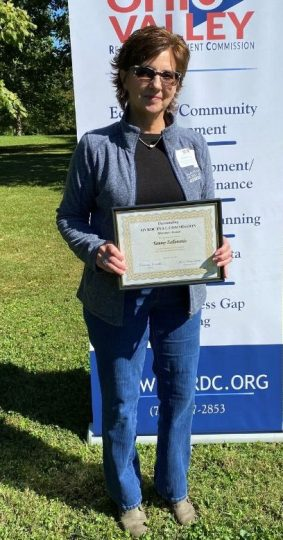 Tammy Eallonardo, Ross County Economic Development Director, was recognized as the Outstanding OVRDC Full Commission Member Award for her engagement and dedication to the membership in service to the region.